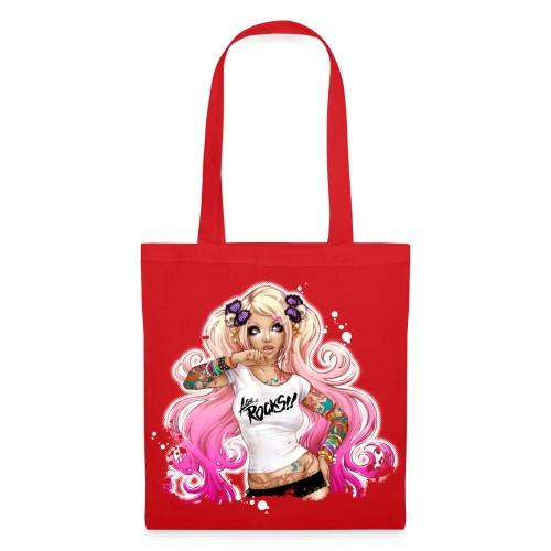 AsuROCKS GIRL Bag Red - Stoffbeutel
