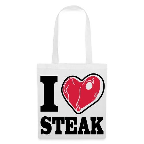 I LOVE STEAK bag - Stoffbeutel