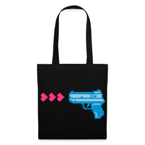 PIXELGUN bag black - Stoffbeutel