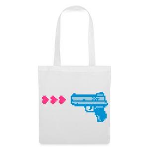 PIXELGUN bag white - Stoffbeutel
