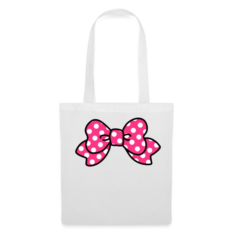 CUTE RIBBON pink bag - Stoffbeutel