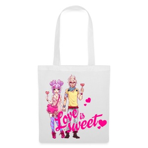 LOVE IS SWEET bag white - Stoffbeutel