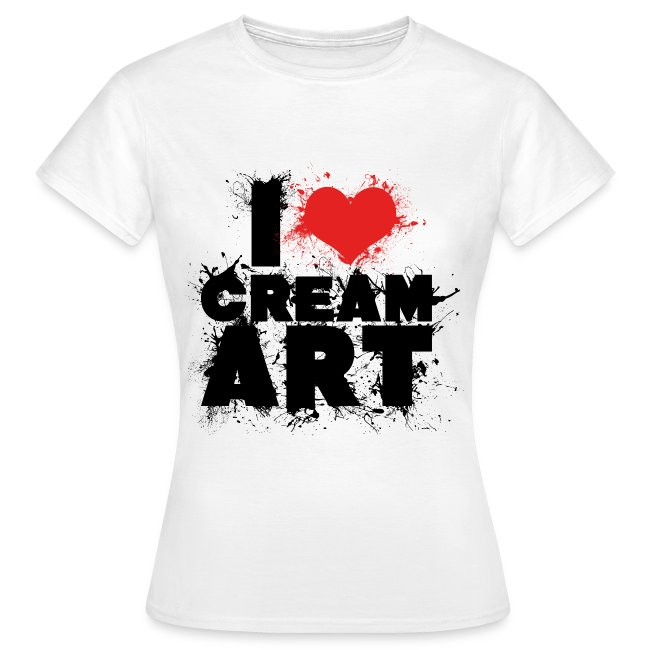 T-shirt I LOVE CREAMART splash Femme