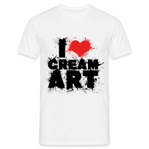 T-shirt I LOVE CREAMART splash Homme - T-shirt Homme