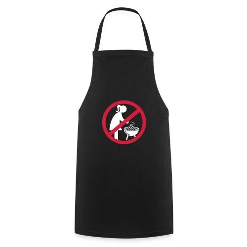Frauen können nicht grillen, Frauen an den Herd ;-) (Grillen Shirt) - Kochschürze