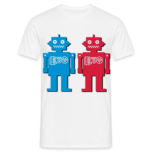 3D Robots - Men's T-Shirt