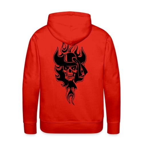 sweatshirt breizh pirate krug - Sweat-shirt à capuche Premium pour hommes