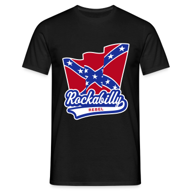 Rockabilly Rebel Flag, T-Shirt