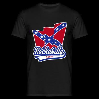 Rockabilly Rebel Flag, T-Shirt