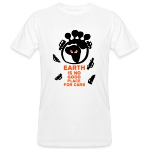 earth is no good place for cars - T-shirt bio Homme
