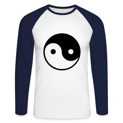 Designer Ying-Yang Sweat - Men's Long Sleeve Baseball T-Shirt