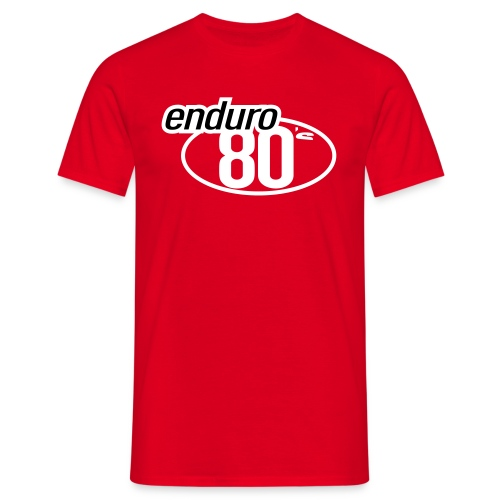 Enduro 80's rouge - T-shirt Homme