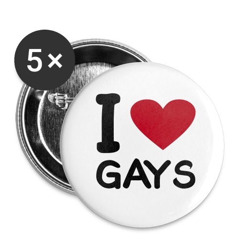 I Love Gay´s - Buttons klein 25 mm