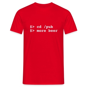 more beer - Männer T-Shirt