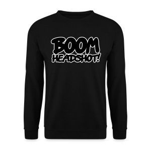 Mens 'BOOM HEADSHOT' Jumper - Men's Sweatshirt