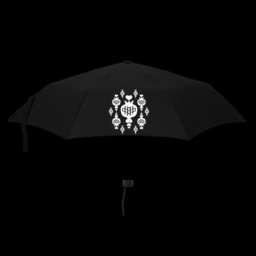 schirm, granat, liebesapfel - Regenschirm (klein)
