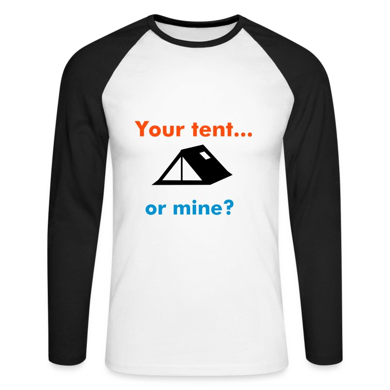 your tent mens l - Men's Long Sleeve Baseball T-Shirt