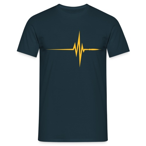 Q-STYLE Pulse Beat - Mannen T-shirt