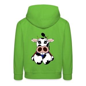 Pull capuche enfant vache - Pull à capuche Premium Enfant