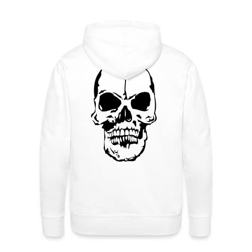 tete de mort unique - Sweat-shirt à capuche Premium pour hommes