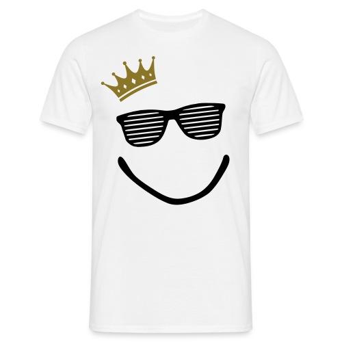 Crown Smiley Shades T shirt - Men's T-Shirt