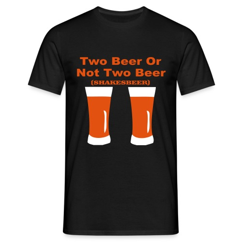 Q-STYLE Two Beer - Mannen T-shirt