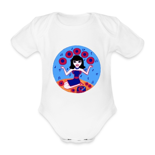 Record girl - Baby Bio-Kurzarm-Body