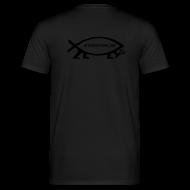 T-Shirts ~ Männer T-Shirt ~ Evolution Fisch Atheisten.de Back