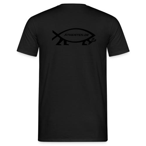 Evolution Fisch Atheisten.de Back - Männer T-Shirt