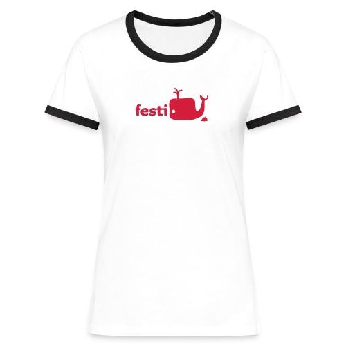 festiwal kontrast-shirt - Frauen Kontrast-T-Shirt
