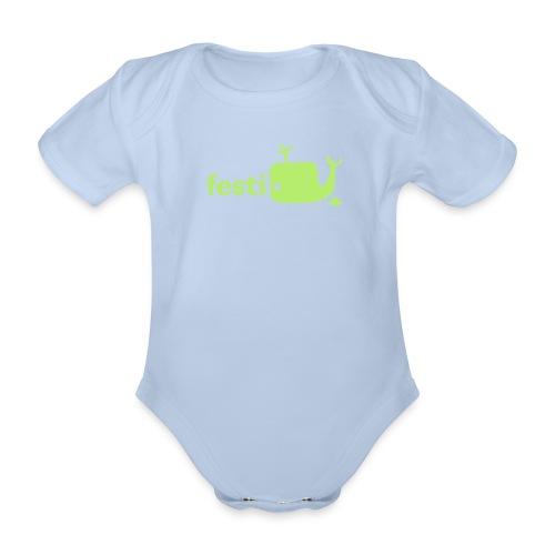 festiwälchen baby body - Baby Bio-Kurzarm-Body