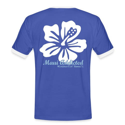 White Hibiscus - Men's Ringer Shirt