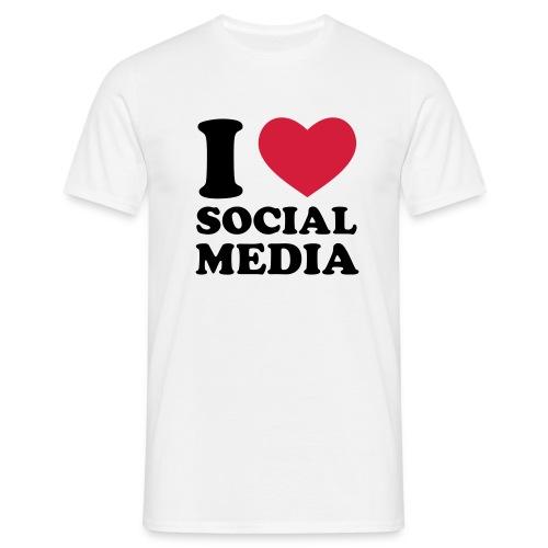 I Love Social Media - Mens - Men's T-Shirt