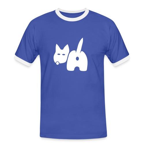 shirt hund dog vierbeiner puftie wauwau wedeln haustier pet leck mich tiershirt shirt tiermotiv fun shirt cool - Männer Kontrast-T-Shirt