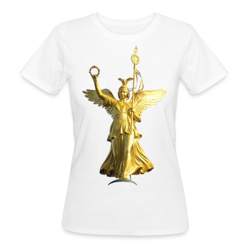 Siegessäule Berlin,  Basic - female - Frauen Bio-T-Shirt