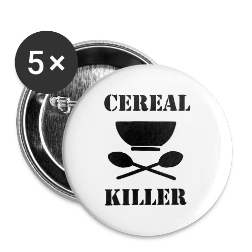 Cereal Killer - Buttons mittel 32 mm (5er Pack)