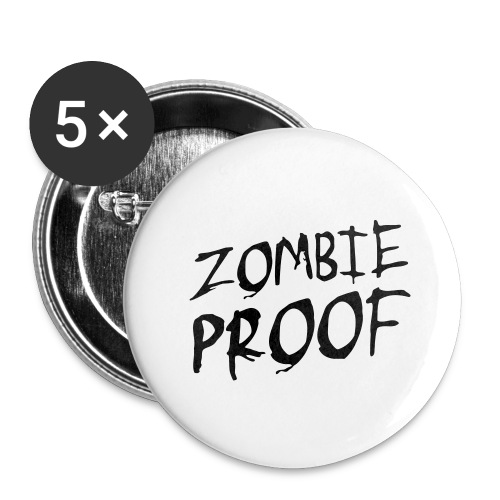 Zombie Proof - Buttons mittel 32 mm (5er Pack)