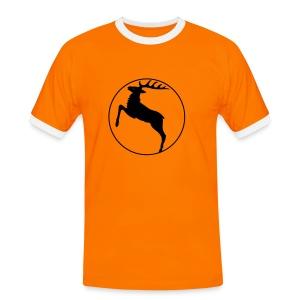 shirt hirsch geweih elch hirschgeweih wald wild tier jäger jägerin jagd förster tiershirt shirt tiermotiv weihnachten rentier - Männer Kontrast-T-Shirt