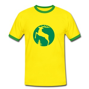 shirt t-shirt hirsch geweih hirschkopf elch hirschgeweih wald wild tier jäger jägerin jagd förster tiershirt shirt tiermotiv weihnachten rentier - Männer Kontrast-T-Shirt
