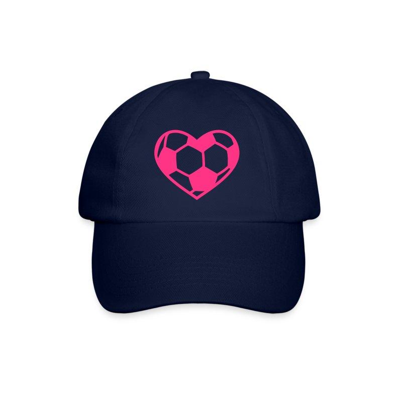 Fußball Herz - Baseballkappe