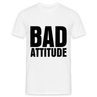 T-Shirts ~ Men's T-Shirt ~ glee born this way bad attitude (M)