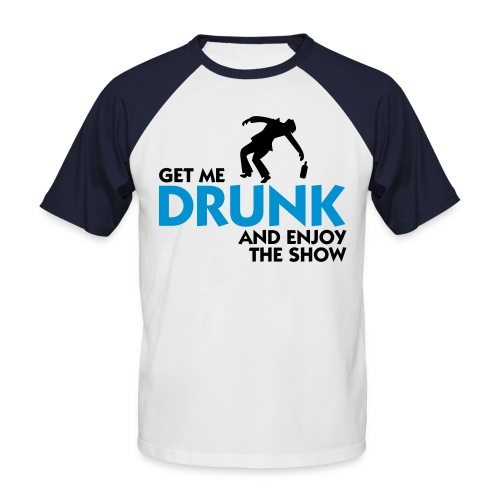 Drunk shirt - Kortermet baseball skjorte for menn