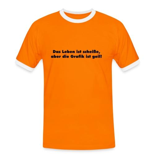 T-Shirt zweifarbig Das Leben... - Männer Kontrast-T-Shirt