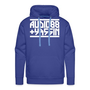 Next Level Logo Sweater (Weiß/Blau) - Männer Premium Hoodie