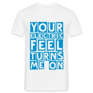 electric feel (M) - Men's T-Shirt