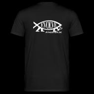 T-Shirts ~ Männer T-Shirt ~ Evolve Atheisten.de Atheisten Fisch T Shirt