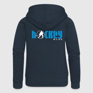Hockey is Life Coats & Jackets - Women's Premium Hooded Jacket
