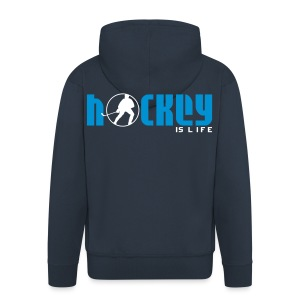 'Hockey is Life' Men's Hooded Jacket - Men's Premium Hooded Jacket