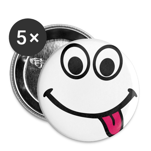 SMILEY BUTTONS 5 Pack - Buttons small 1''/25 mm (5-pack)