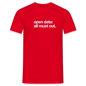 men's/ open data: all must out - Men's T-Shirt